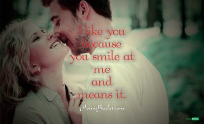 I Like You Because You Smile - Smile Quotes