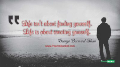 Life Is Not About Finding Your - Life Quotes