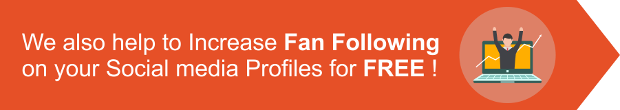 We also help to increase fan fallowing on your social media profiles for FREE!