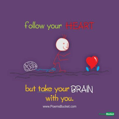 Follow Your Heart But Take - English Thoughts