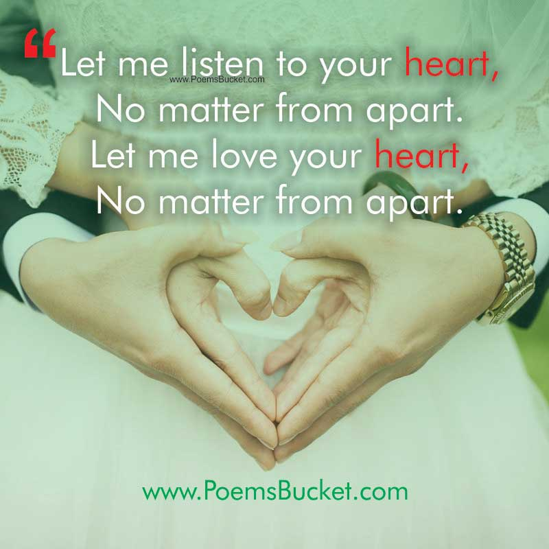 Let Me Listen To Your Heart Love Quotes