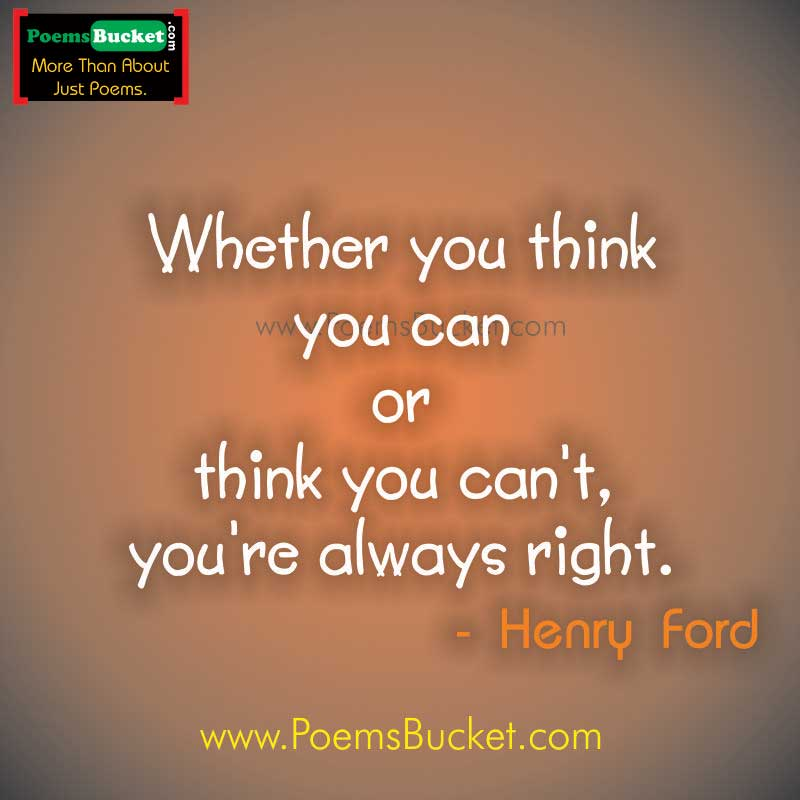 Whether You Think You - Motivational Quotes