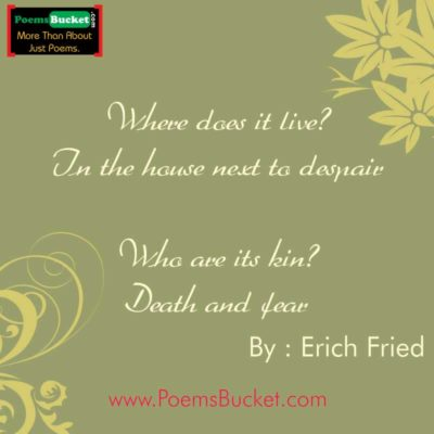 Where Does It Live By Erich - Love Poems