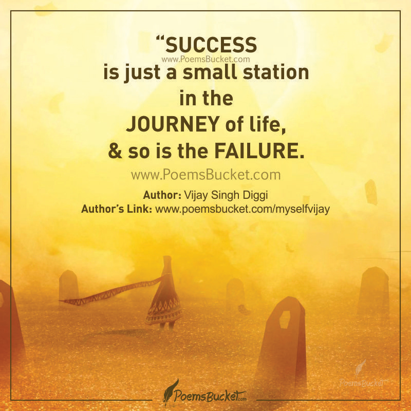 Success Is Just A Small Station - Life Thought